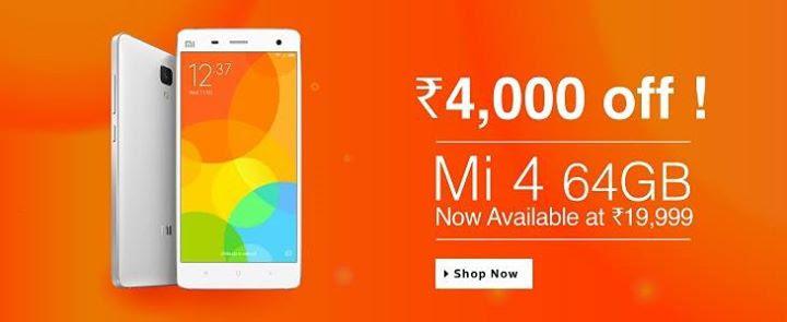 Xiaomi Mi4 16gb Amp 64gb Price Drop Flashsaletricks